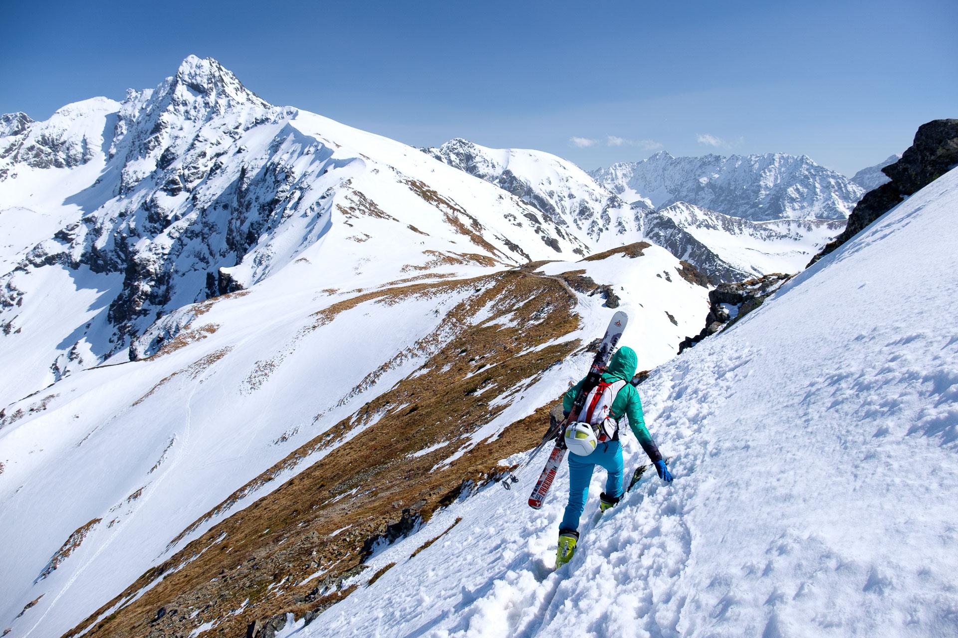 skitury, Kasprowy Wierch, Beskid, Tatry, trening w Tatrach