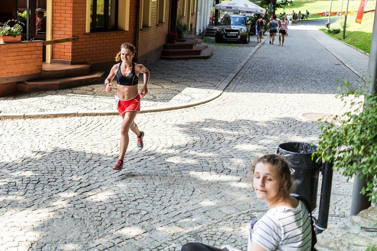 Finisz Złotego Maratonu. Lądek-Zdrój 2014. MP. II m-ce
