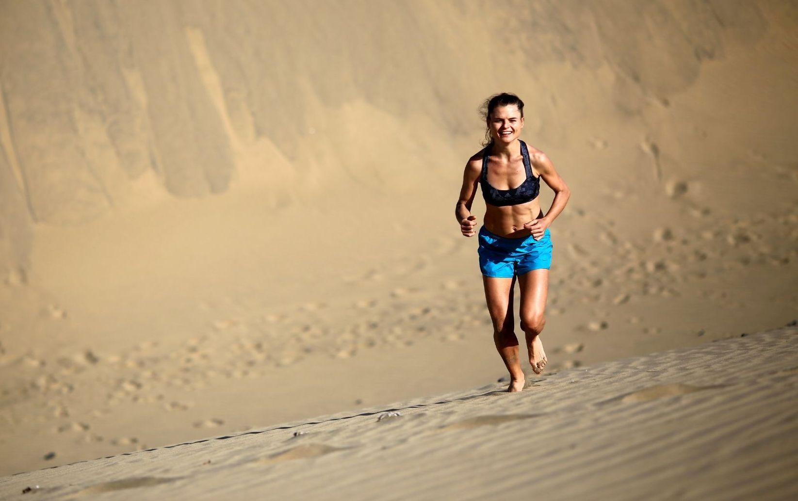 Wydmy Maspalomas, Gran Canaria, trening siły biegowej