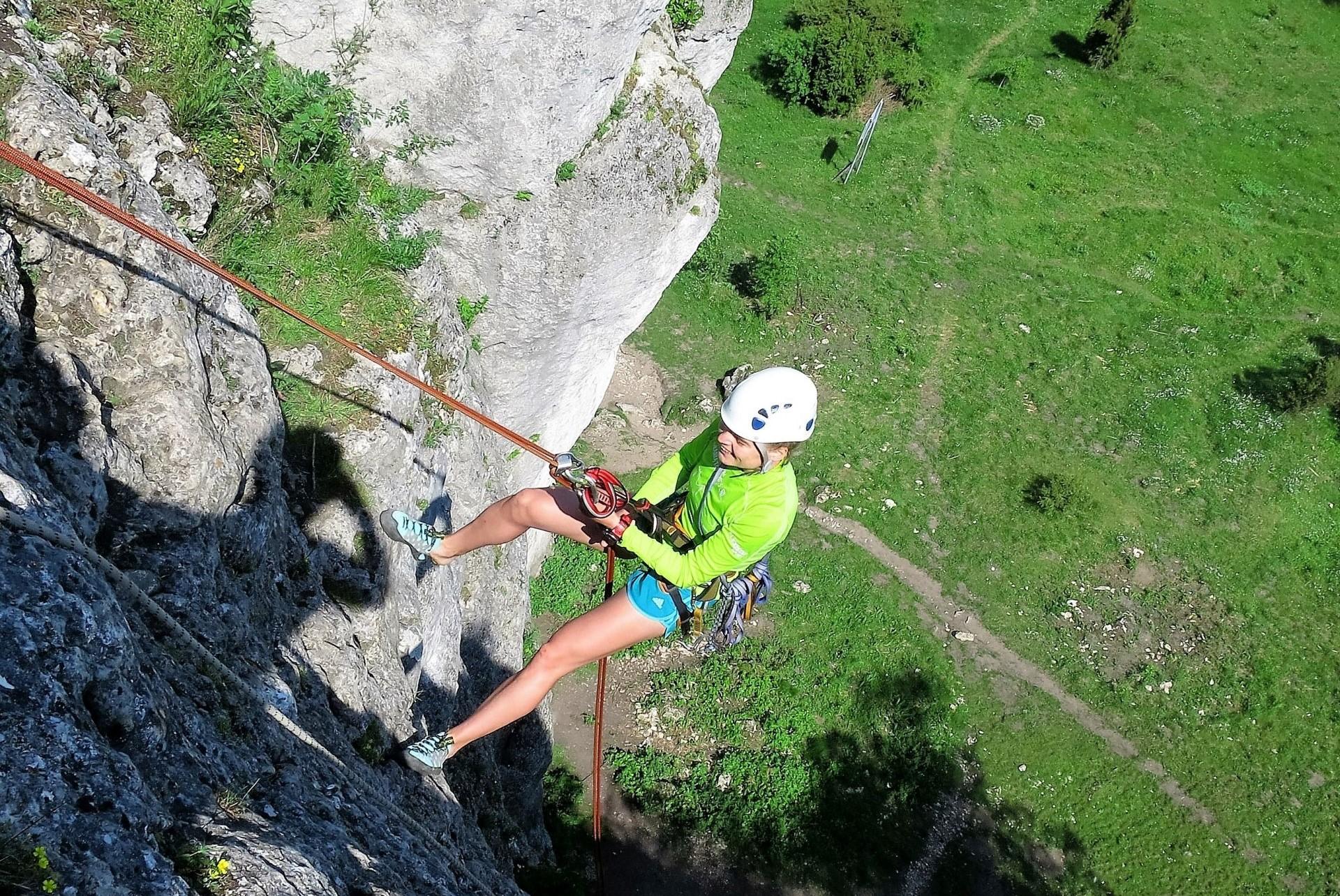 wspinanie w skałkach Jura