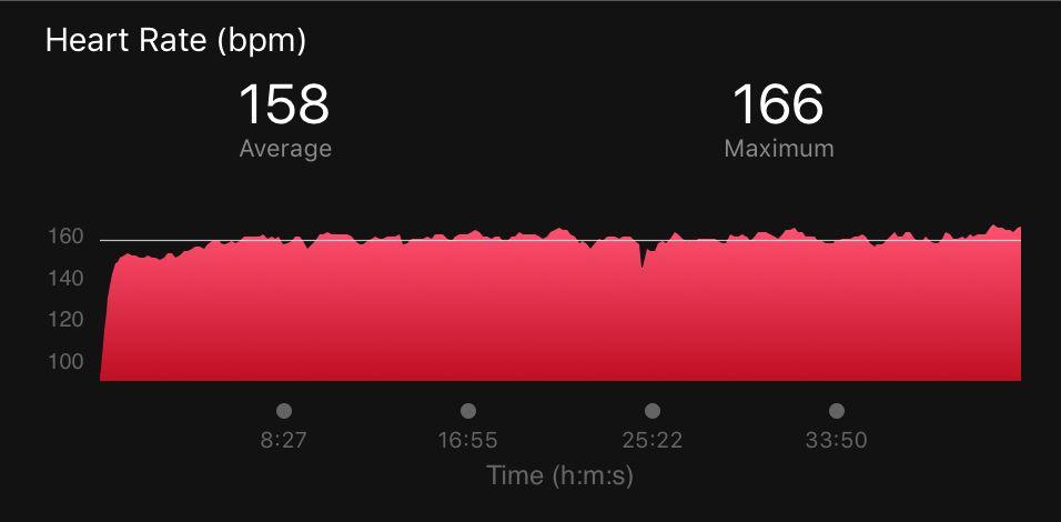 trening crossowy 8 km w 2 zakresie