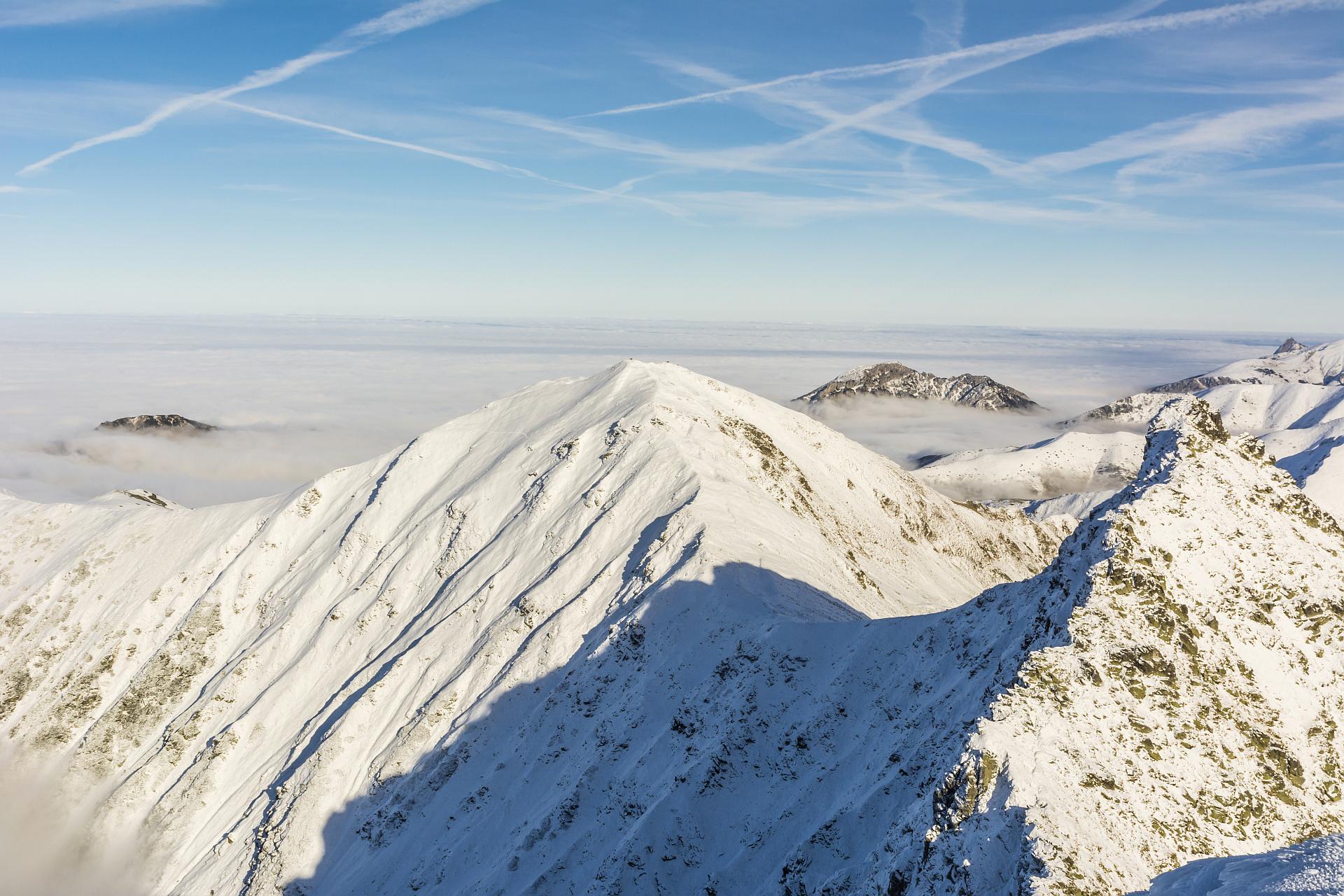 Zimowe trasy biegowe. Tatry Zachodnie, Wołowiec, Volovec
