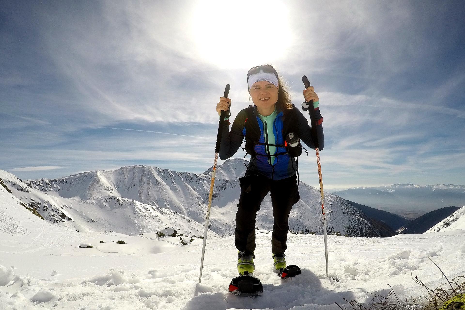 W drodze na Lucne Sedlo, Dolina Żarska, skitury