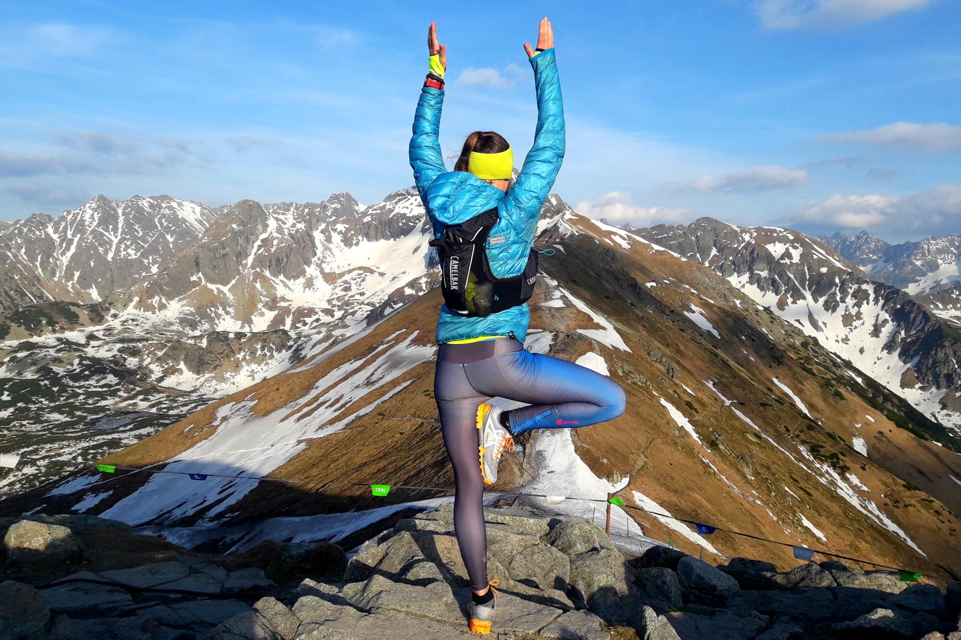 Kasprowy Wierch, Tatry, biegaczka, yoga, runner,