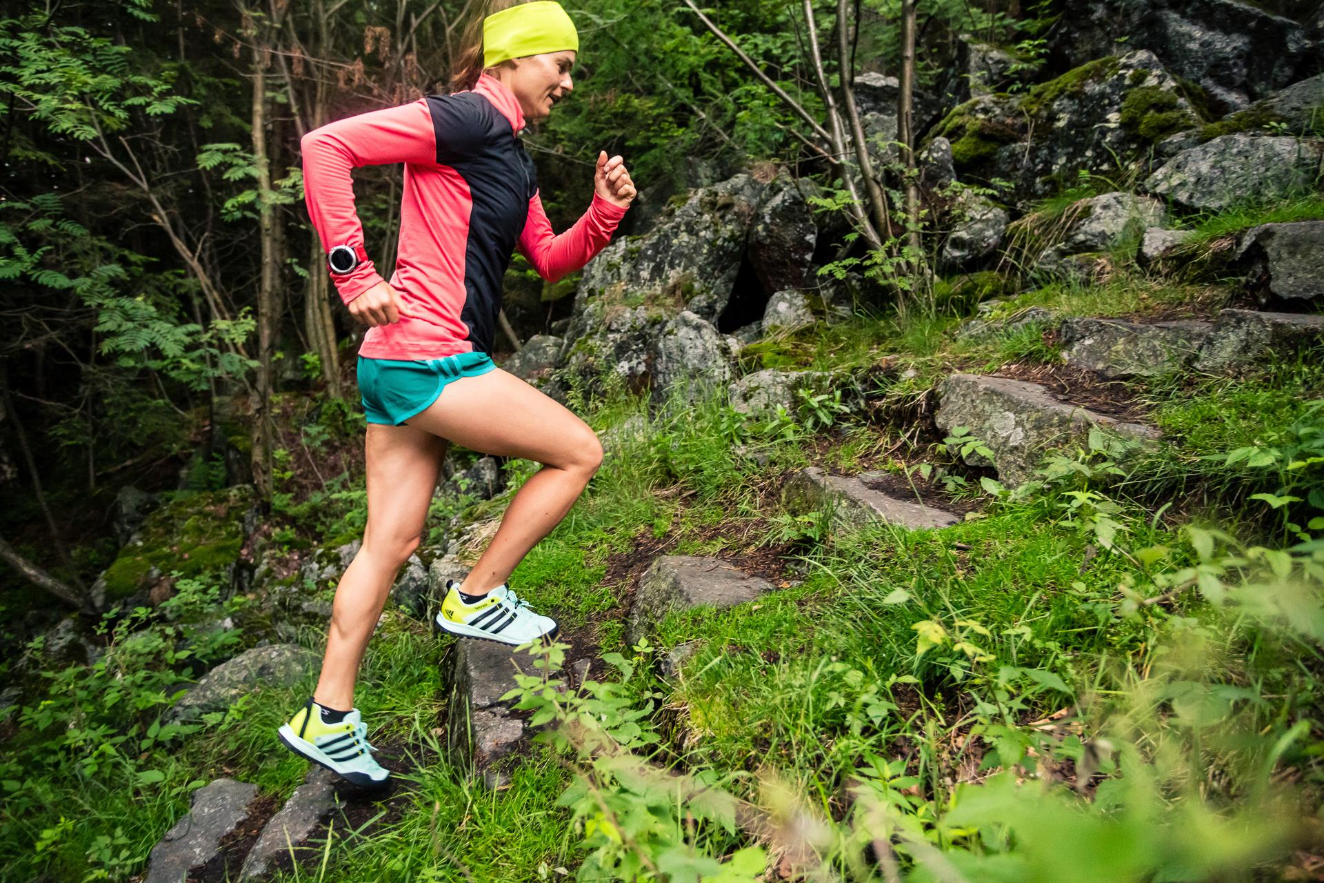 Biegaczka, Ślęża, trening, podbiegi, bieganie