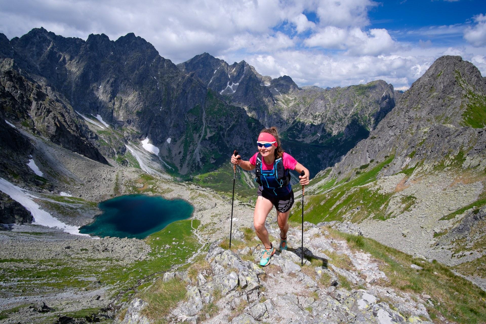 GÓRY. Trening z kijami, Tatry Woskie, Dolina Białej Wody, bieganie po górach