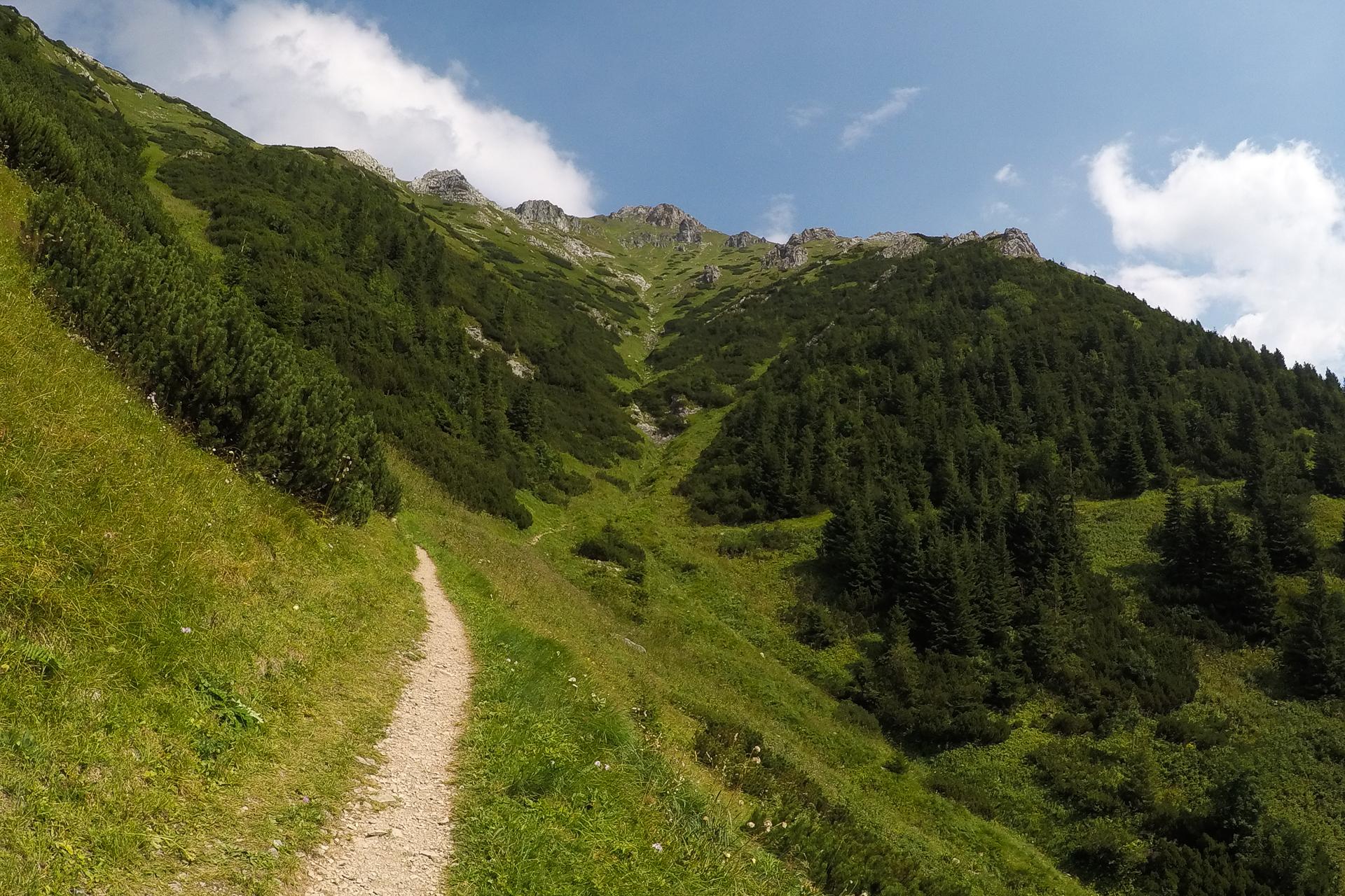 Dolina Zadnich Koperszadów, Tatry Bielskie, Przełęcz pod Kopą