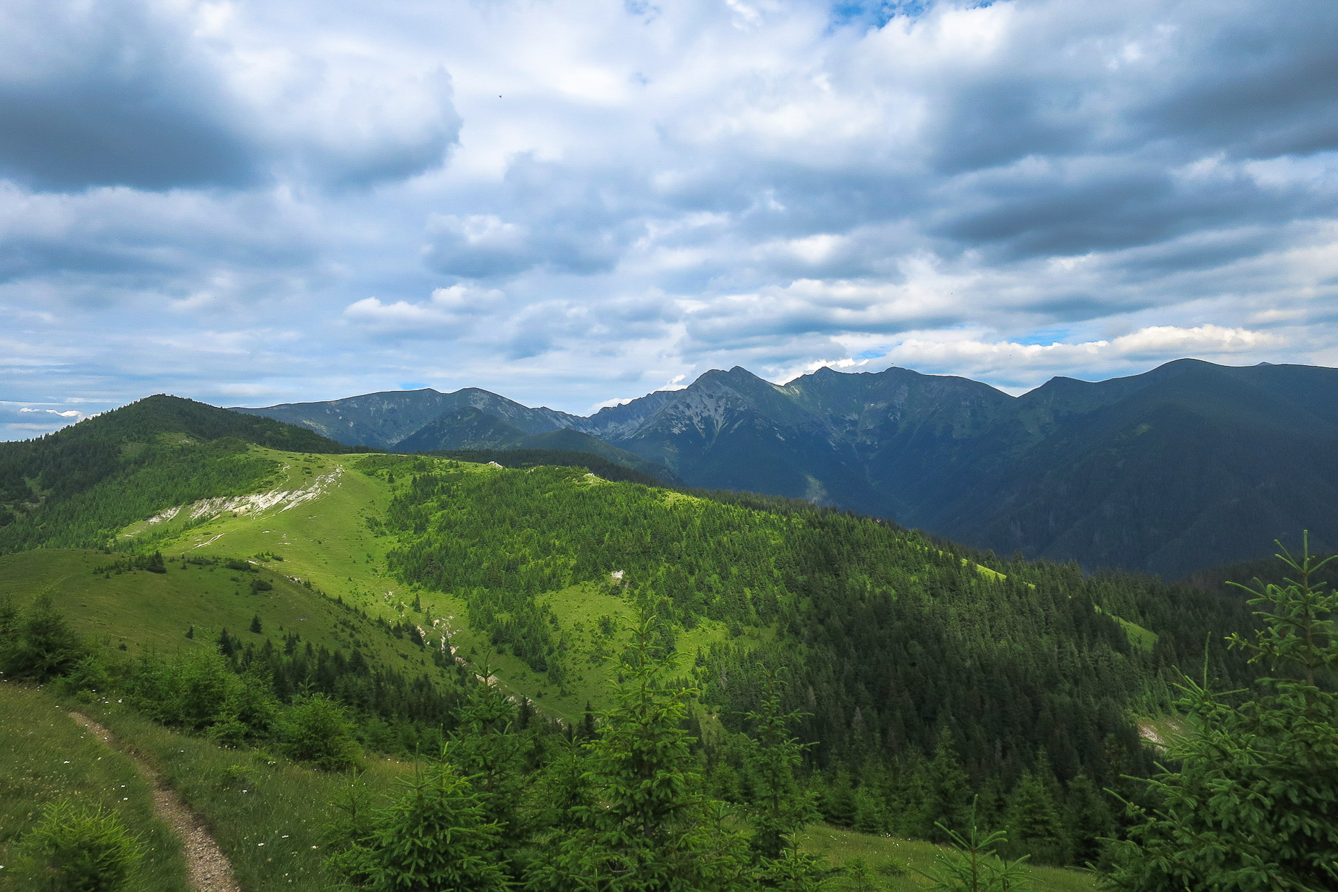Trasa biegowa, Babki i Siwy Wierch, Tatry Zachodnie