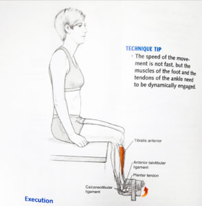 Zgięcie stopy w górę z obciążeniem, ćwiczenia wzmacniające dla biegaczy