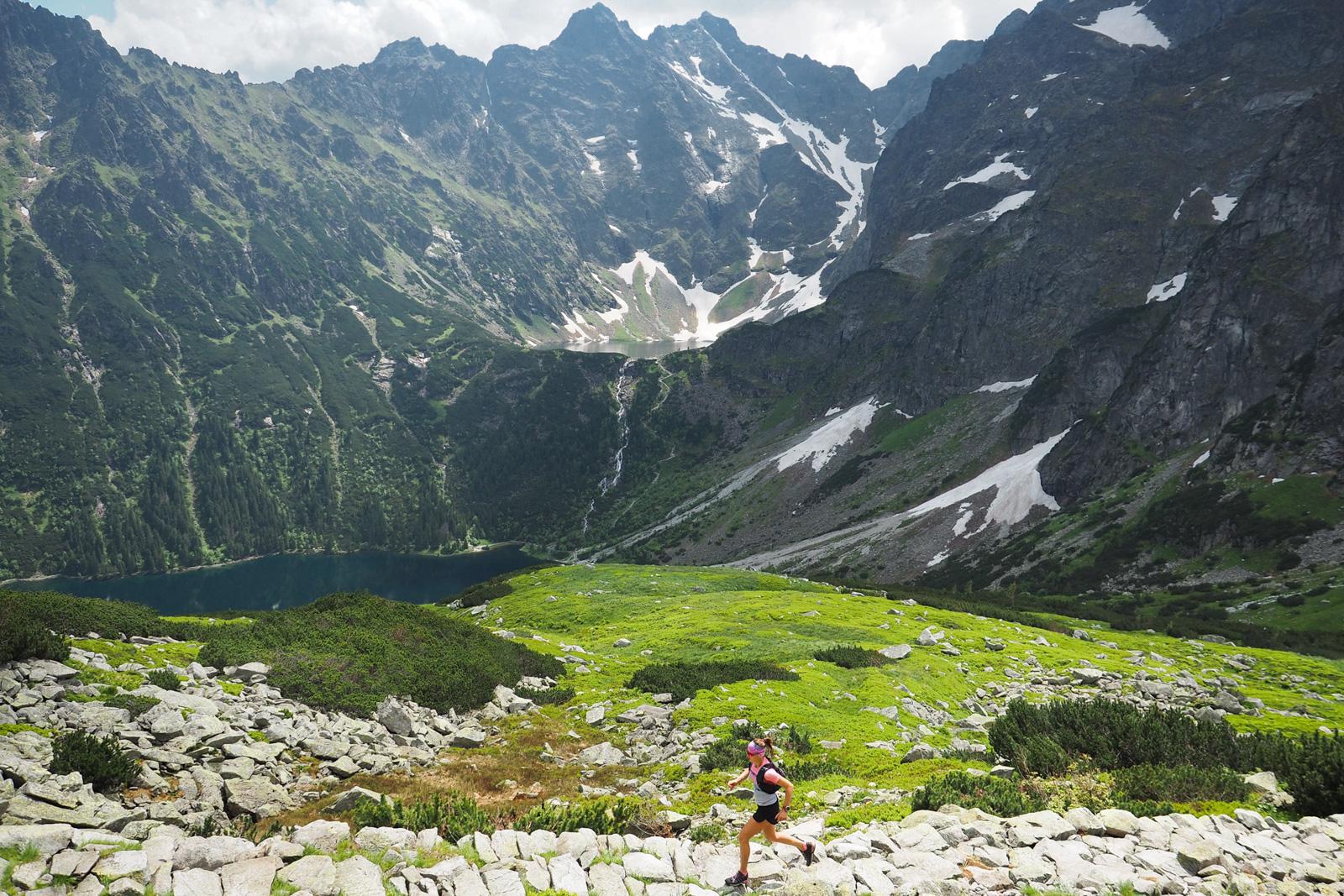 Bieganie w Tatrach, szlak na Szpiglasową Przełęcz, Tatry Wysokie