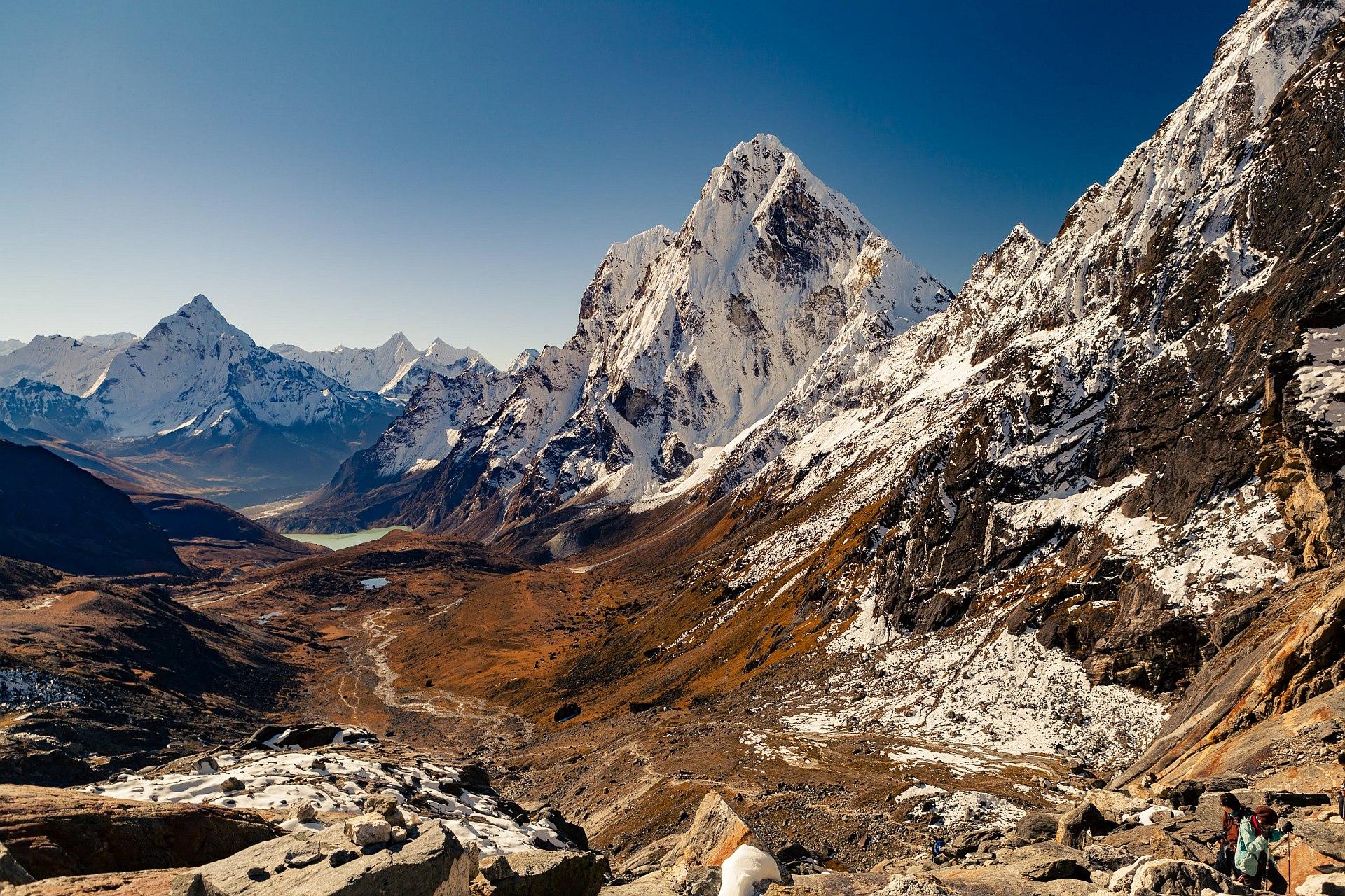 Przełęcz Cho La, trekking w Himalajach, Nepal